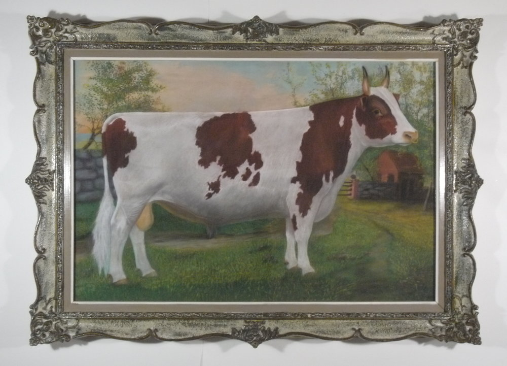 Ross Butler -  Ayrshire Bull , Pastel on Paper - After Conservation