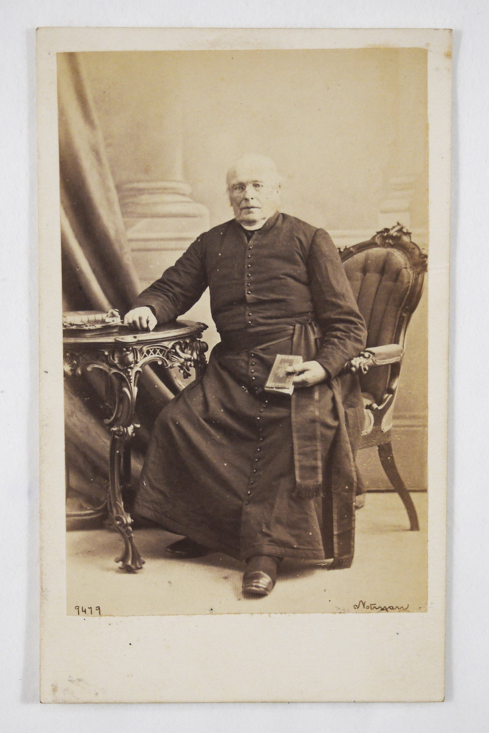 Carte de visite from the Bishop Crinnon Album of Rev. Edward Gordon, first Vicar General for the Diocese of Hamilton