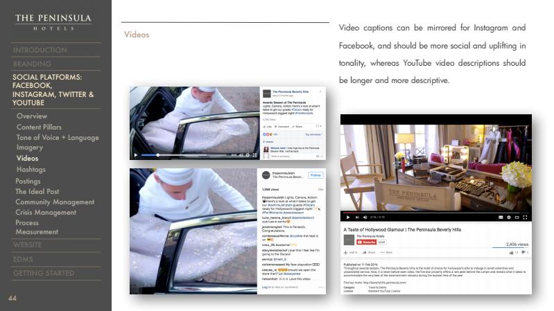 The Peninsula Hotels Social Media Playbook — Helen Li