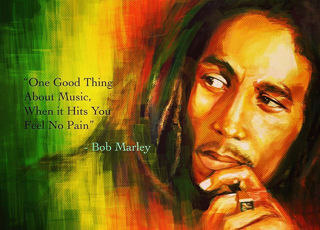 'One good thing about music, when it hits you feel no pain' - Bob Marley #blacklivesmatter