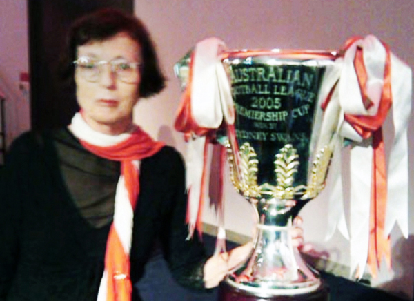 Jan with the 2005 premiership cup