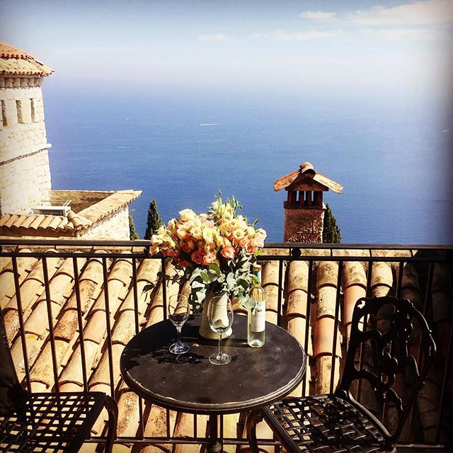 View from our Junior Suite, Chateau Eza, Eze Village, Cote D'Azure