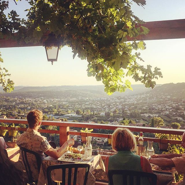 Watching the sun set , Saint Paul De Vence, Cote D'Azur