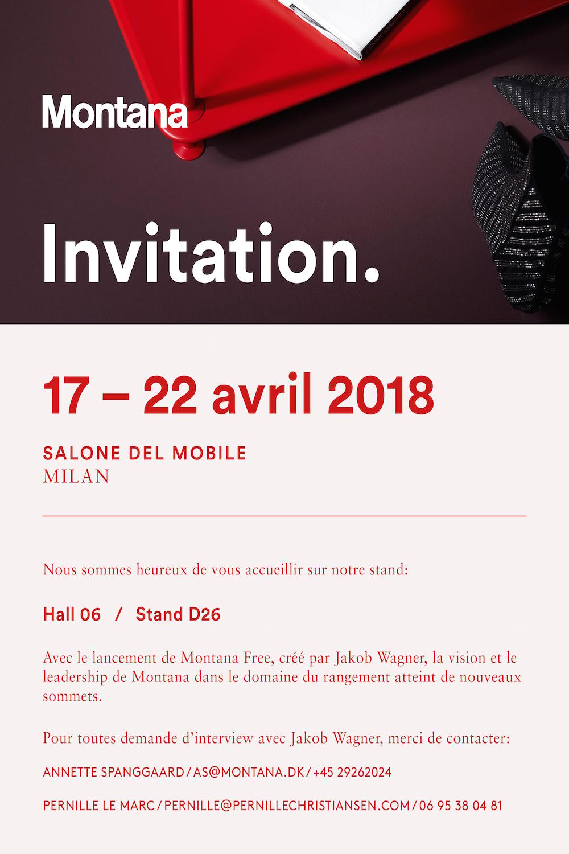 10/04/2018 - MONTANAMontana - invitation pour Salone Del...
