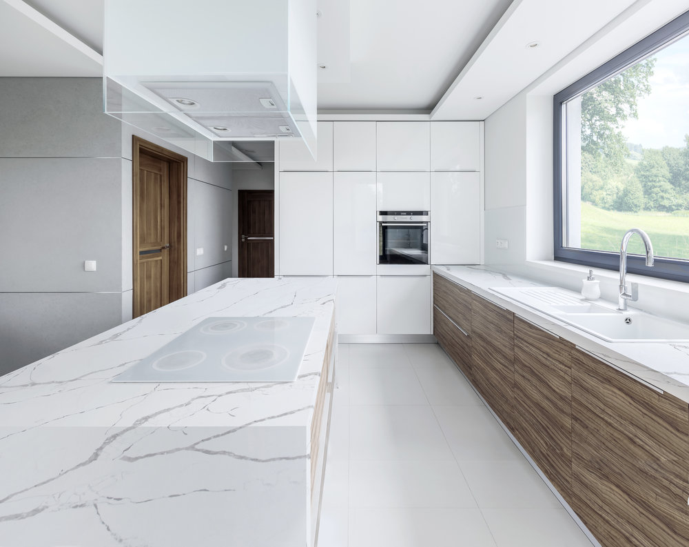CQ990 Statuario Leonardo Kitchen