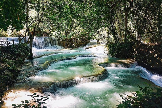 Another one of Kuang Si Falls 💦