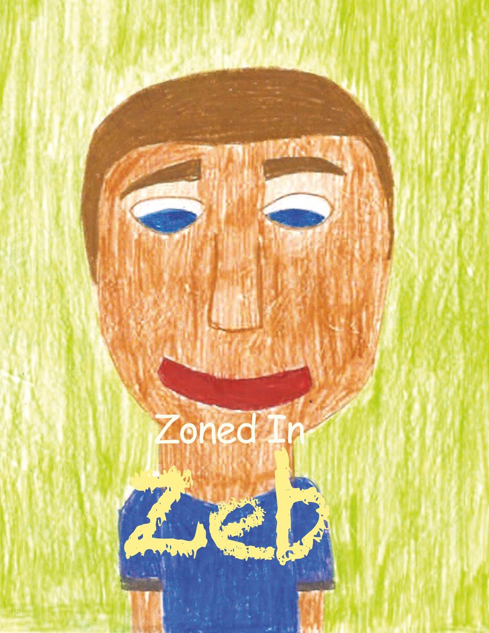 """Z- ZONED IN ZEB from Powerful You teaches kids to """"get in the zone!""""."""