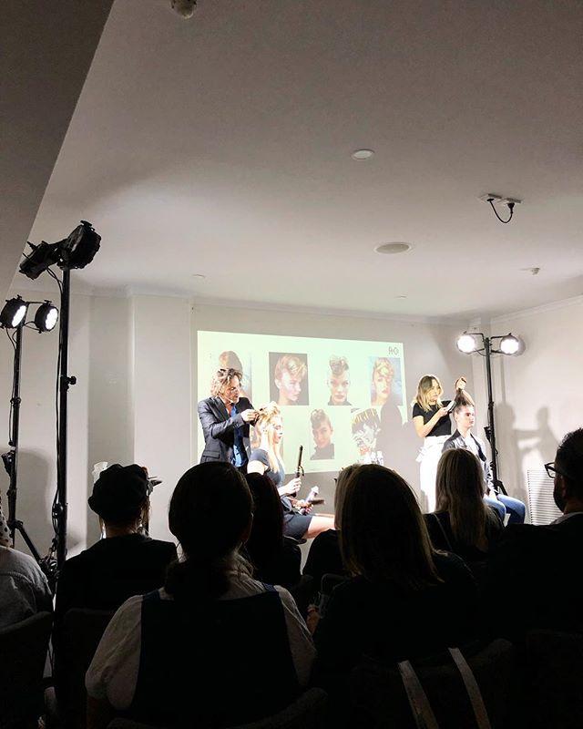 A pleasure to watch @barney_martin_hair & @belle_jackson_creative produce some amazing styles with @randcoau last night!