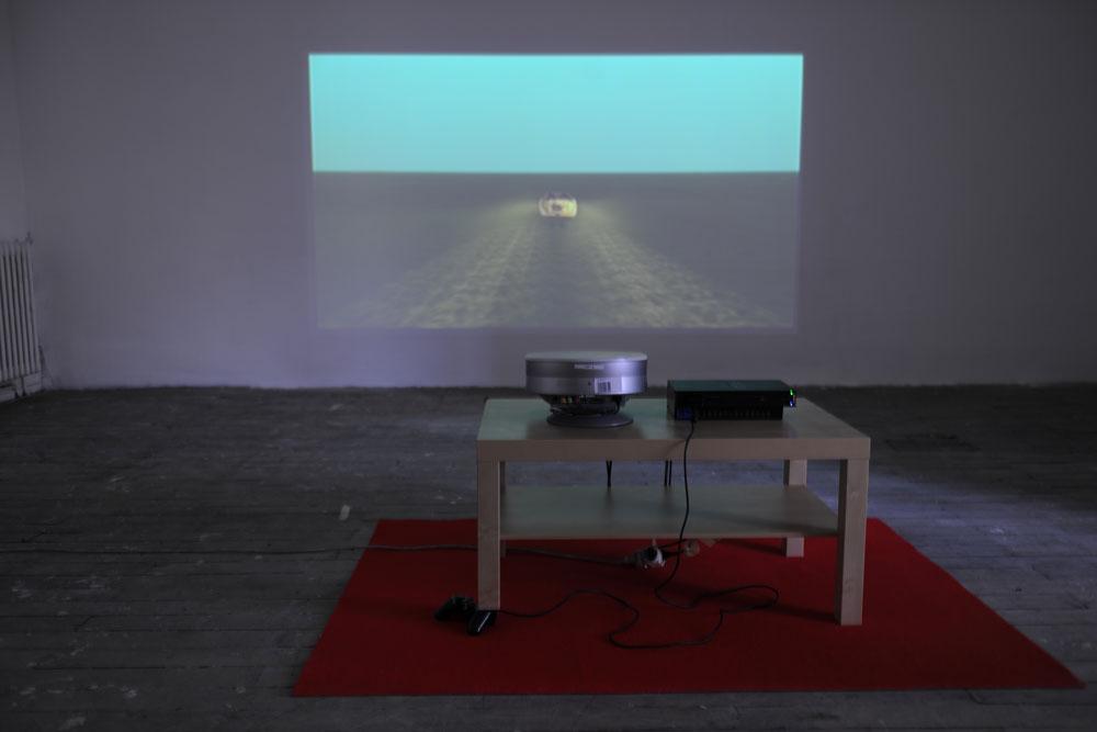 Jean-Baptiste Wejman,Une table modifiée pour une machine qui génère un monde qui génère un personnage qui génère un voyage, 2014
