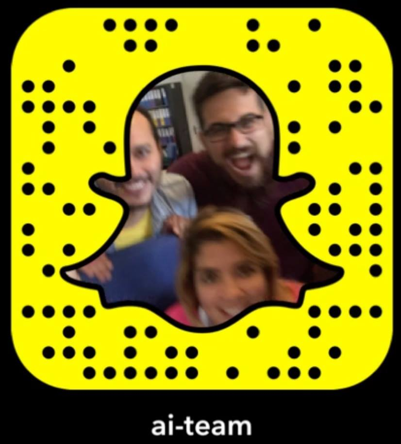 Follow the AI team on Snapchat