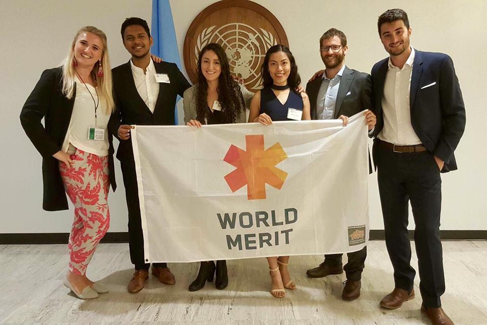 With the delegation of World Merit at the Nexus Global Youth Forum
