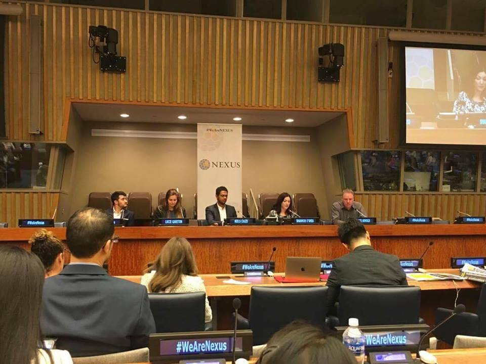 Speaking about Youth Advancing the Global Goals at the UN