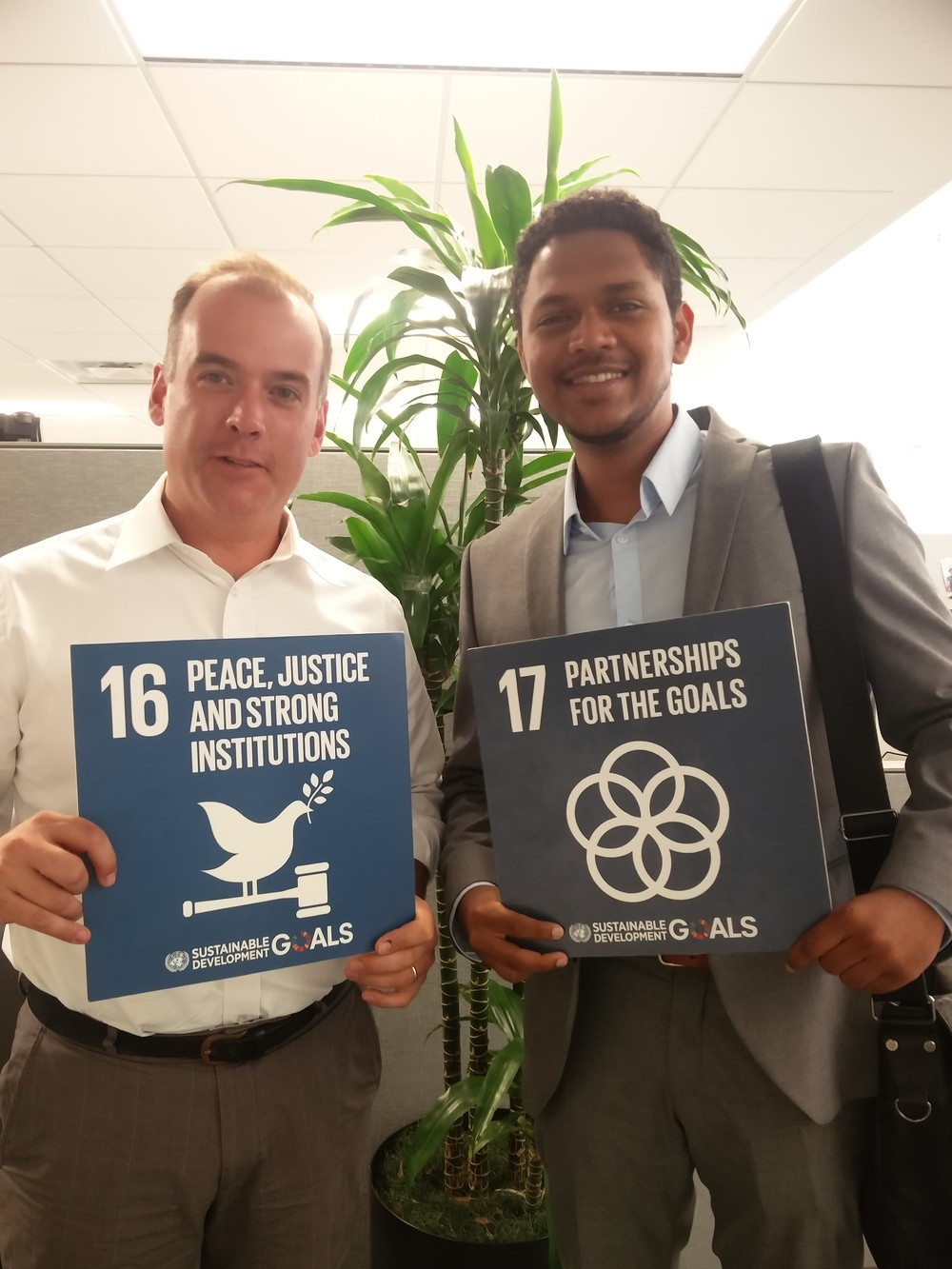 With the Director of the UN SDG Action Campaign