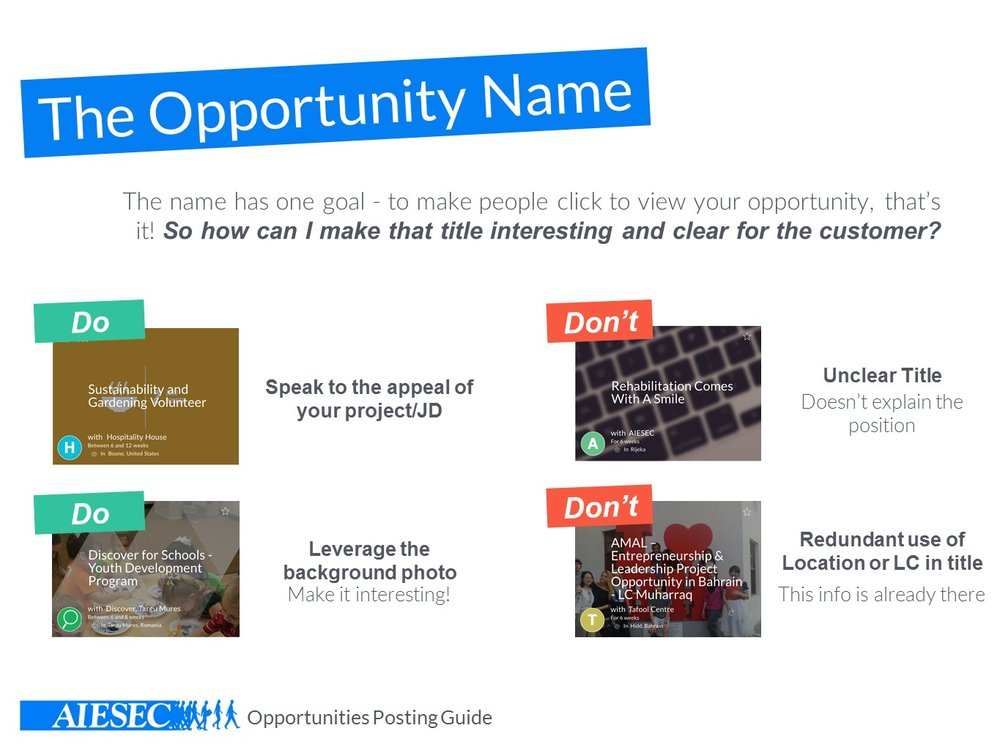 How to name your opportunity right. It's not that tricky, eh?