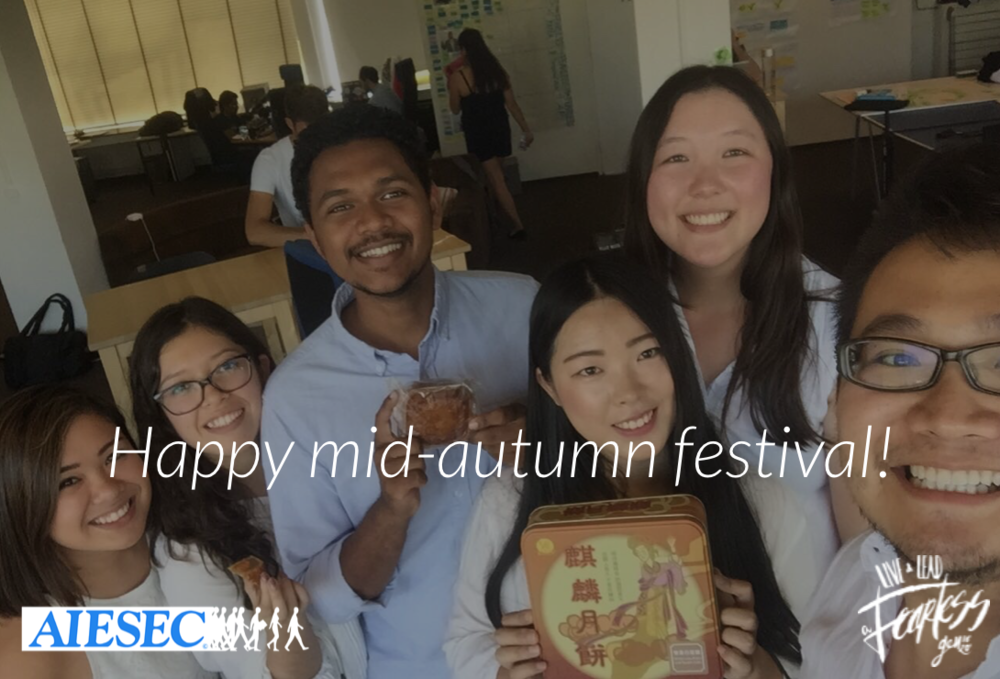 Happy Mid-Autumn Festival! Hope this Moon Festival is the beginning of all that is brightest for you and your family,whether you're celebrating it with your family or far from home!