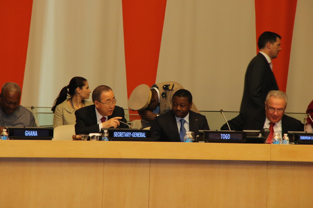 YUP THAT'S BAN KI MOON - SECRETARY GENERAL OF THE UNITED NATIONS.