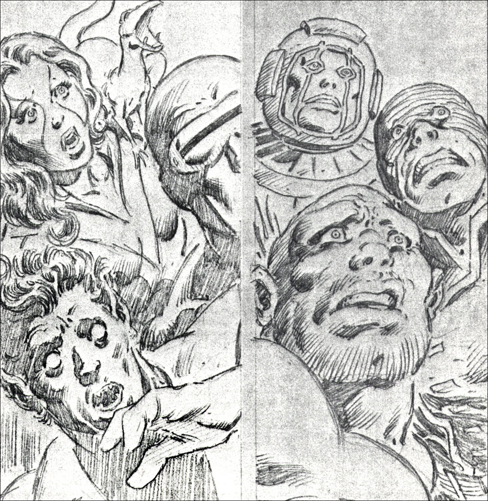 Secret Wars #1 pencils