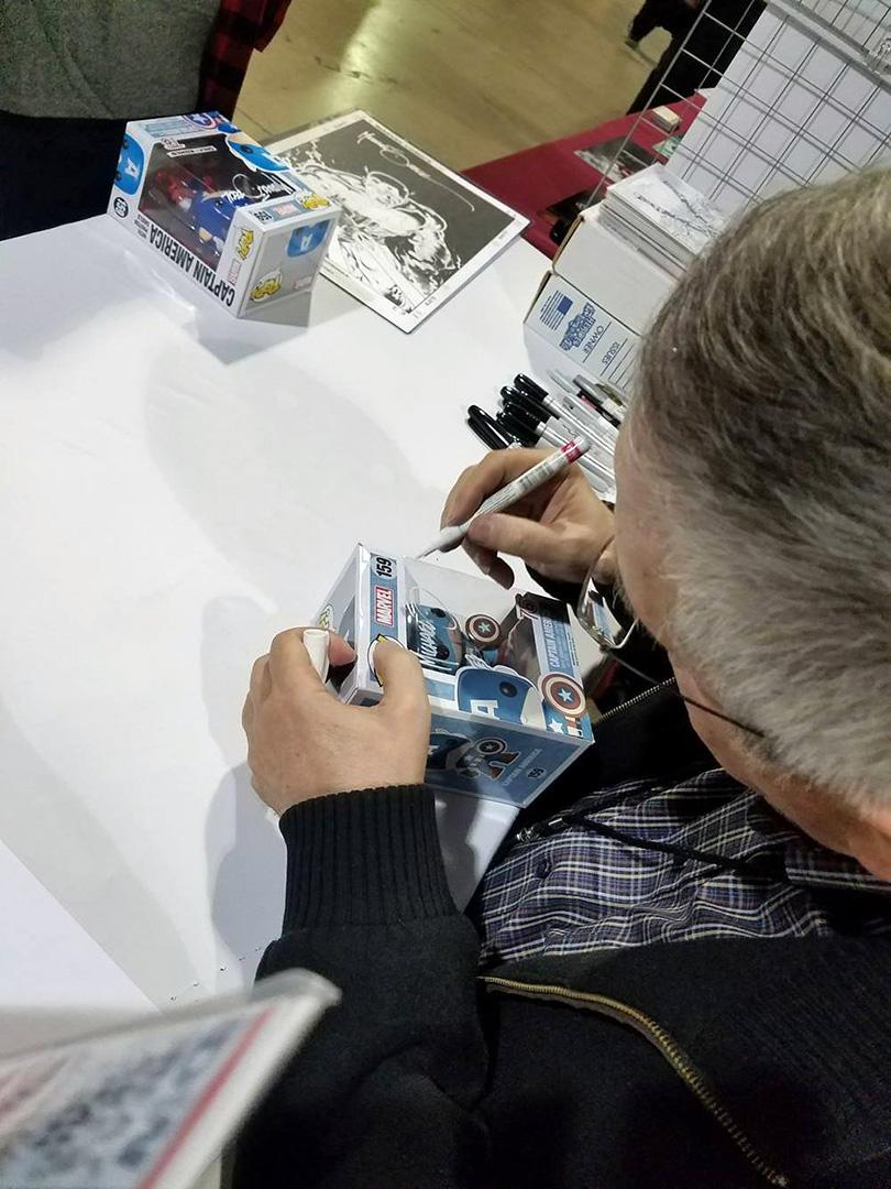 Signing plastic again.