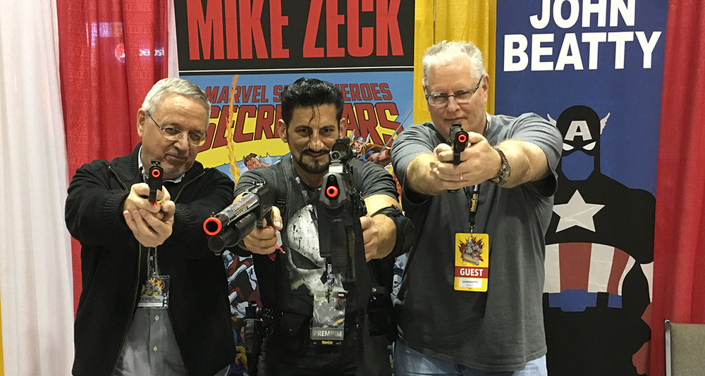 Punisher extraordinaire, Miguel, was a hit at the Zeck/Beatty tables. We thought he looked great on the first day of the show but he upped his game each successive day, adding new new armor, weapons and other accessories. Looking forward to seeing what he has cooked up for Florida SuperCon!