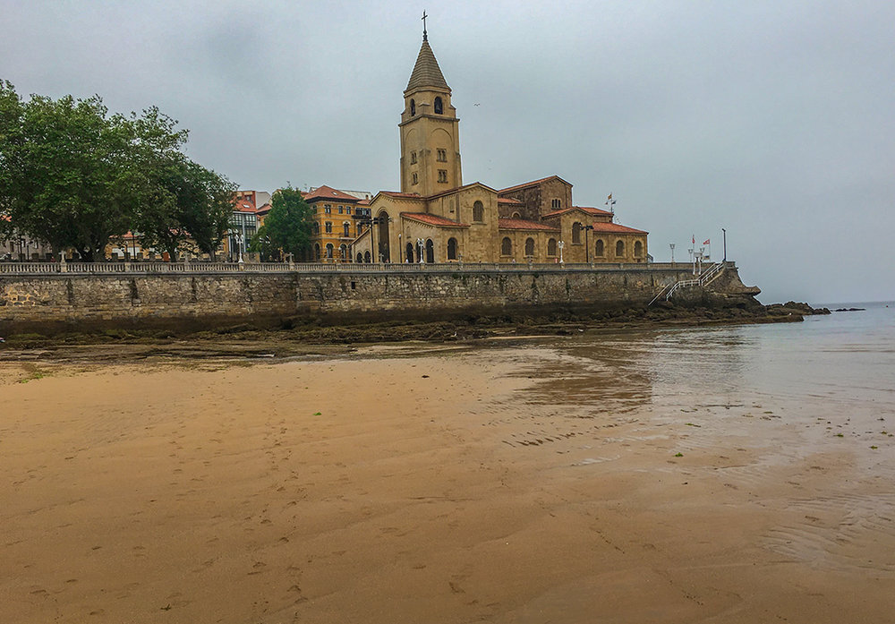 Iglesia de San Pedro from the beach.