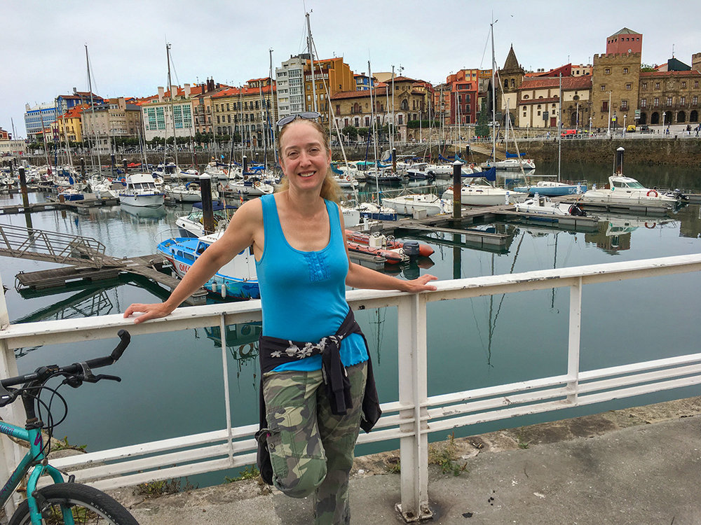 Renee was the lead person on walking tours since she's a frequent visitor to Gijón.