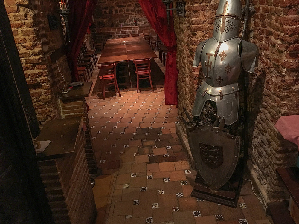 "Much of our walking tour with Stephen covered ""underground"" Madrid... a labyrinth of caverns built to store wine, meats, and other goods during the city construction in the 1600s. Some restaurants have converted them to underground dining rooms."