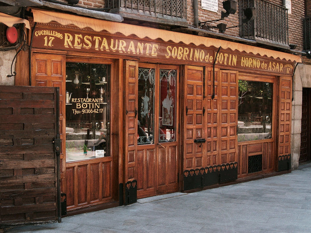 If the Guinness book is to be believed, we ate at the oldest continuously operating restaurant in the world,.. Restaurante Botín near Plaza Mayor in Madrid.
