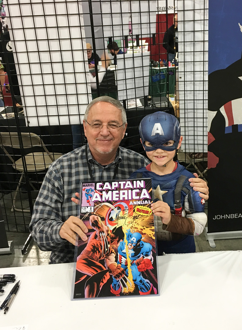 So busy at Salt Lake City Con, I really didn't have time to think about pics. Except for that time when a certain Captain America fan came to see me.