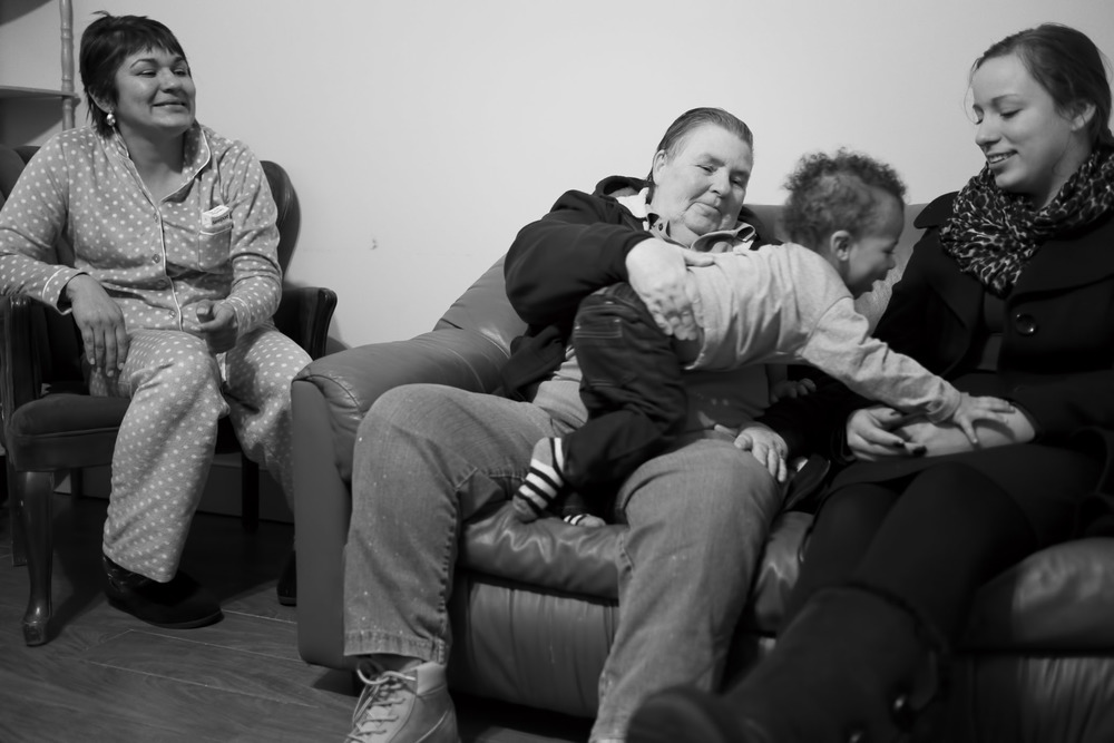 Carol in the TV room with some of the other residents of her home. Long Island City, NY (2015)