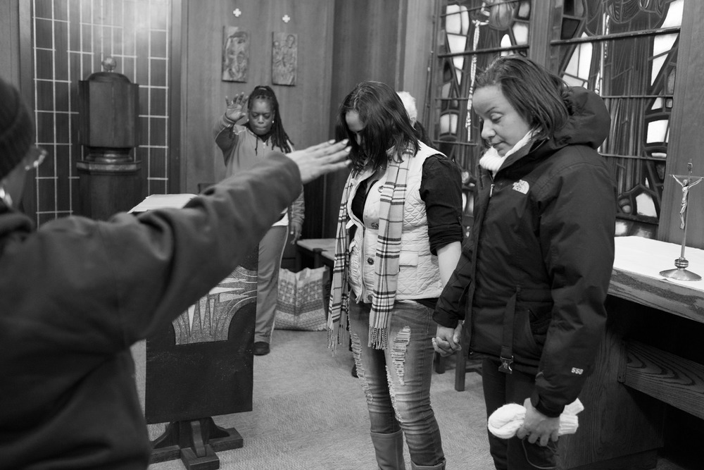 Keila at a religious retreat with other former prisoners. Brooklyn, NY (2015)