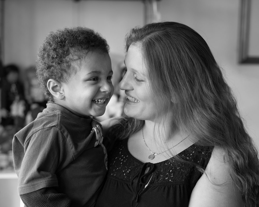 """ANGELINA, 29 and ELIJAH, 2. Served 1 year. Released: 2011.   When I gave birth to Elijah in prison, I still wanted to get high. But Judy told me that """"nobody in this world will love your child like you do and no one will do as good a job of raising him as you will,"""" and that I better take a good hard look at what I was doing and who I wanted to be. And thanks to all of the advice and care I got from Judy, I'm home, I'm not getting high, I'm in college, I'm off parole, and I have Elijah and I love him so much."""
