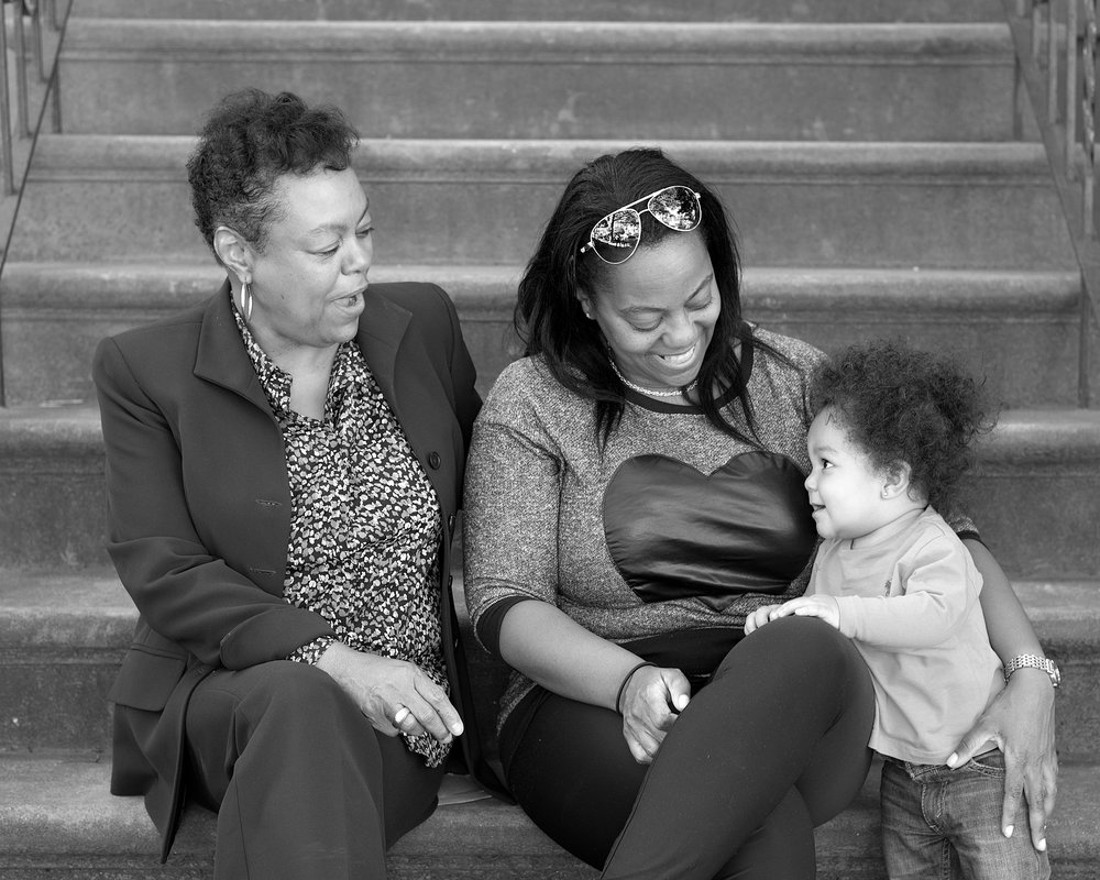 TONI, 65, LEAH, 45, and LIAM, 11 months. TONI: Served almost 25 years. Released: 2011. LEAH: Served almost 10 years. Released 2001.   TONI: When my daughter, Leah, came to Bedford it was really difficult. Judy mediated disputes between us. Today, my daughter, 3 grandkids, and my great grand have a close loving relationship. I give thanks to Judy for this.