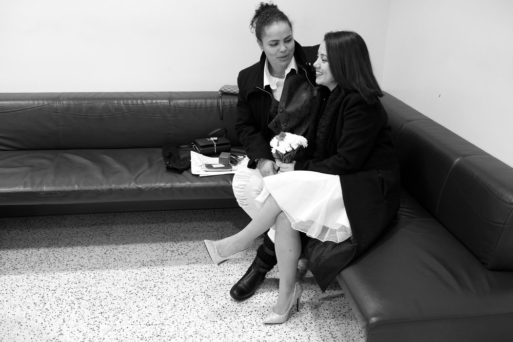 Evelyn and Andrea waiting to get married. Queens, NY (2018)