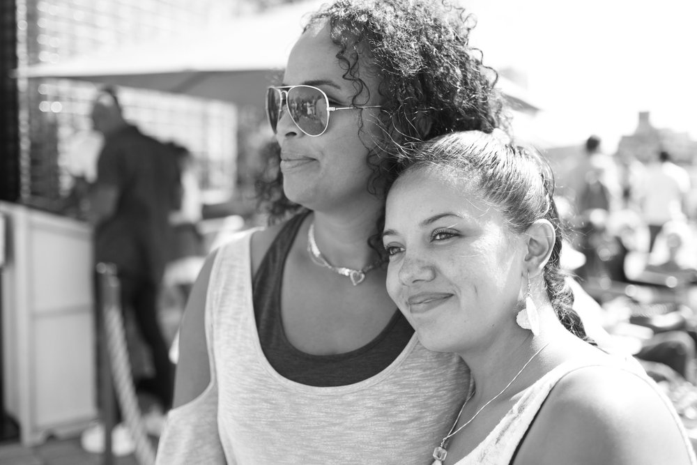 Evelyn and Andrea. Brooklyn Bridge Park (2017)