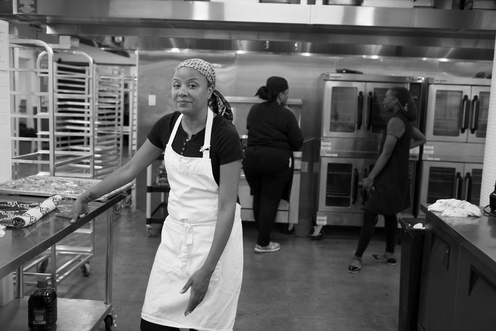 Keila on a catering job. Brooklyn, NY (2016)