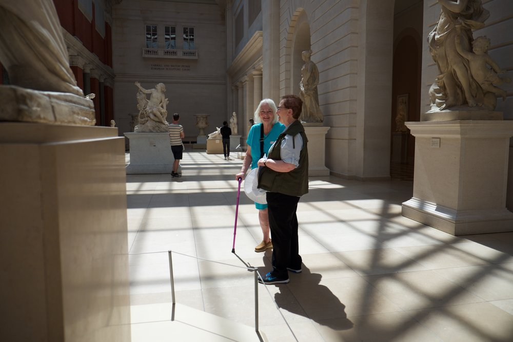 At the Metropolitan Museum of Art with the former Superintendent of Bedford Hills Correctional Facility. New York City (July 19, 2017).