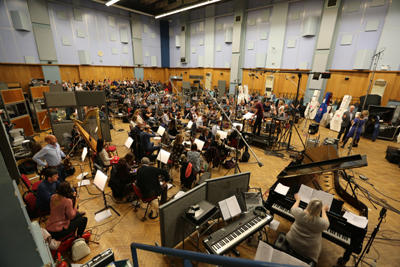 Tomb Raider Suite recording session at Abbey Road Studios