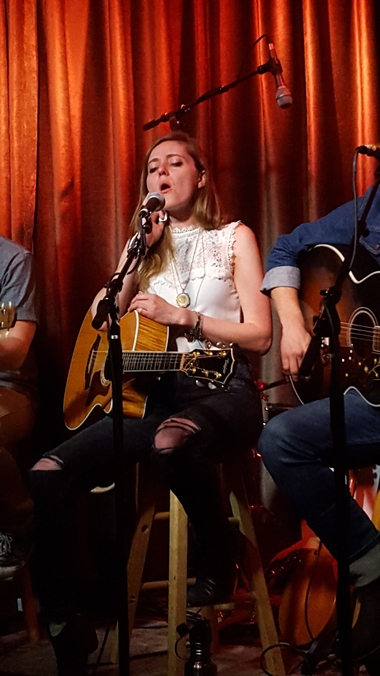 Megan Slankard performs with the Bose Troubadour. Photo by Jessica Klausing