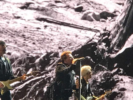 U2 photo by Harlene Dryden.