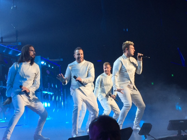 Backstreet Boys (from left: Kevin Richardson, Howie Dorough, AJ McLean (behind Howie), Nick Carter, and Brian Littrell photo by Jessica Klausing.