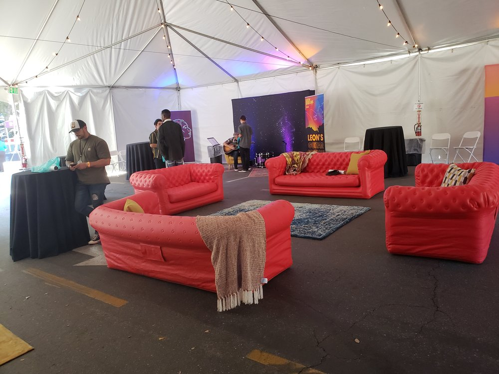 Inside the VIP lounge. Photo by Jessica Klausing.