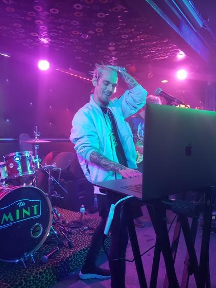 "Aaron Carter performs ""Fool's Gold"" at The Mint. Photo by Jessica Klausing."