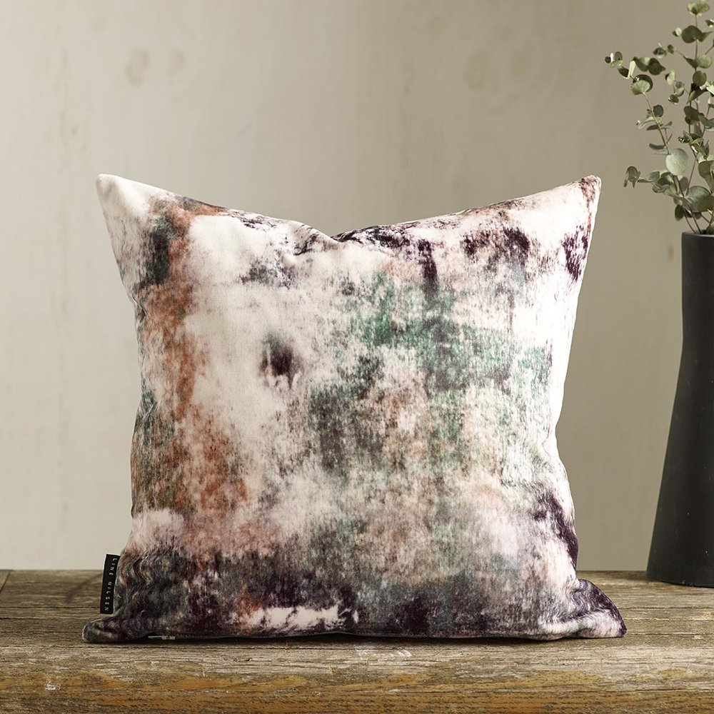 EDEN Velvet   - Designed by Line Nilsen. Printed in England, made in Nottingham, duck feather insert Available in more colours and also as silk satin.