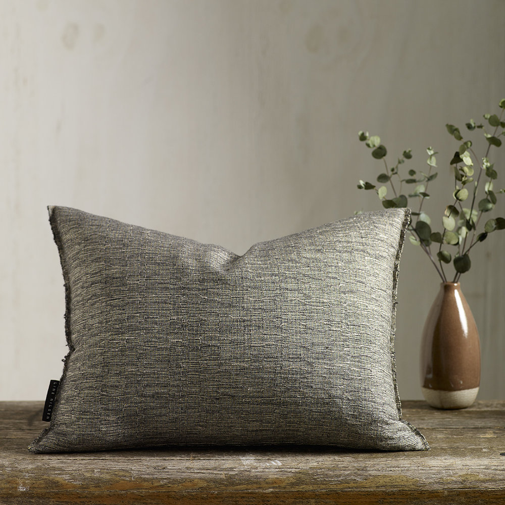 NAMI  - Hand woven cushion, elegant subtle texture and lustre. Cotton/Merino/Lurex.