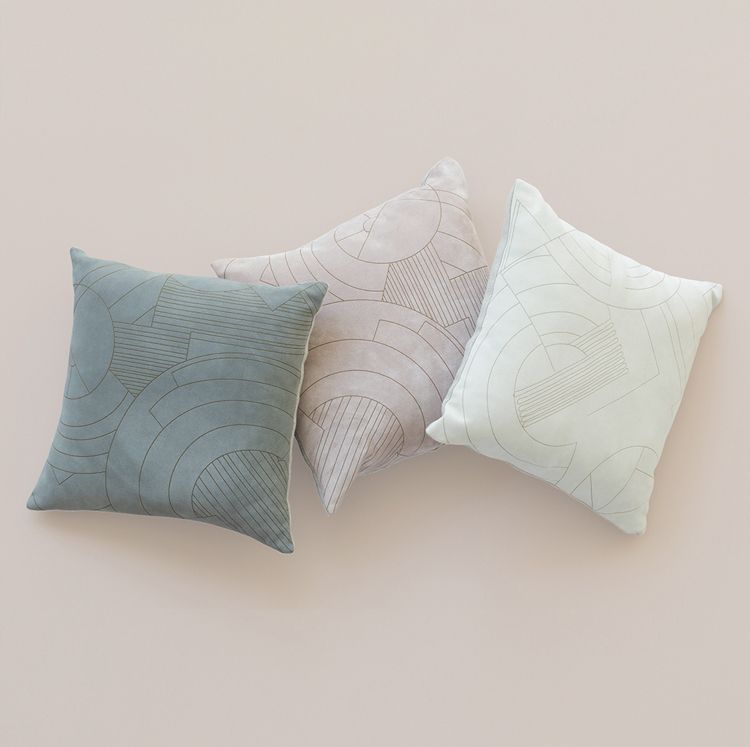 A KOOK MILIEU SUEDE PILLOWS