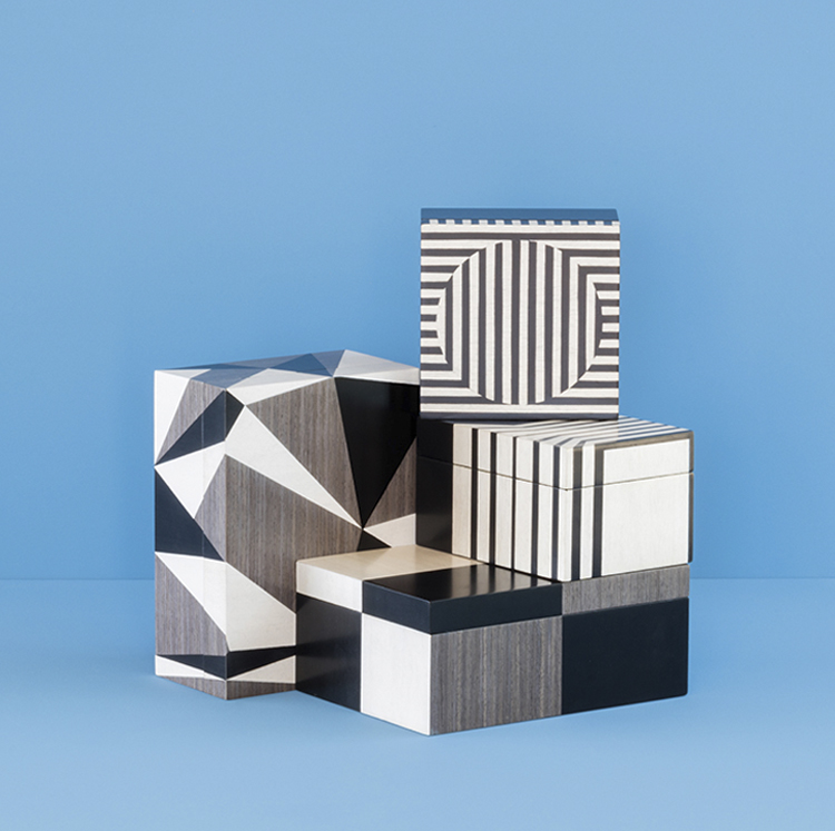 A KOOK MILIEU WOOD MARQUETRY BOXES