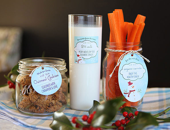 Treats for Santa and his reindeer