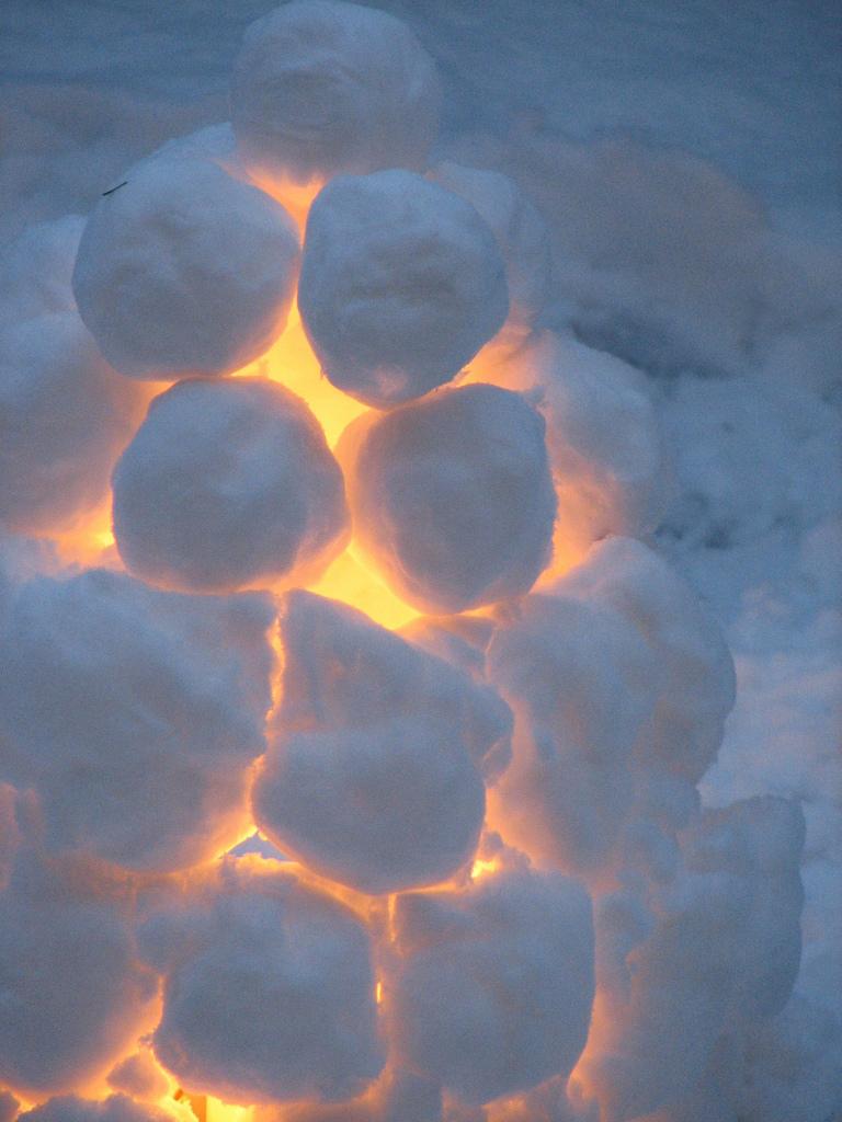 Finnish snow houses