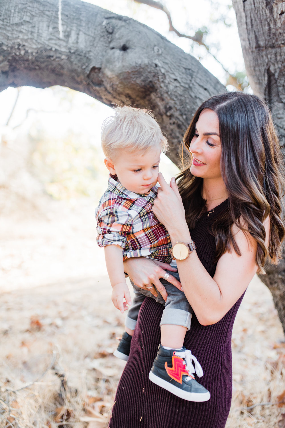 Aiden loves when I touch his cheek - it helps put him in a calm state. Good touch can be so important for bonding moments!  Photo credit  Chelsea Frandsen Photography