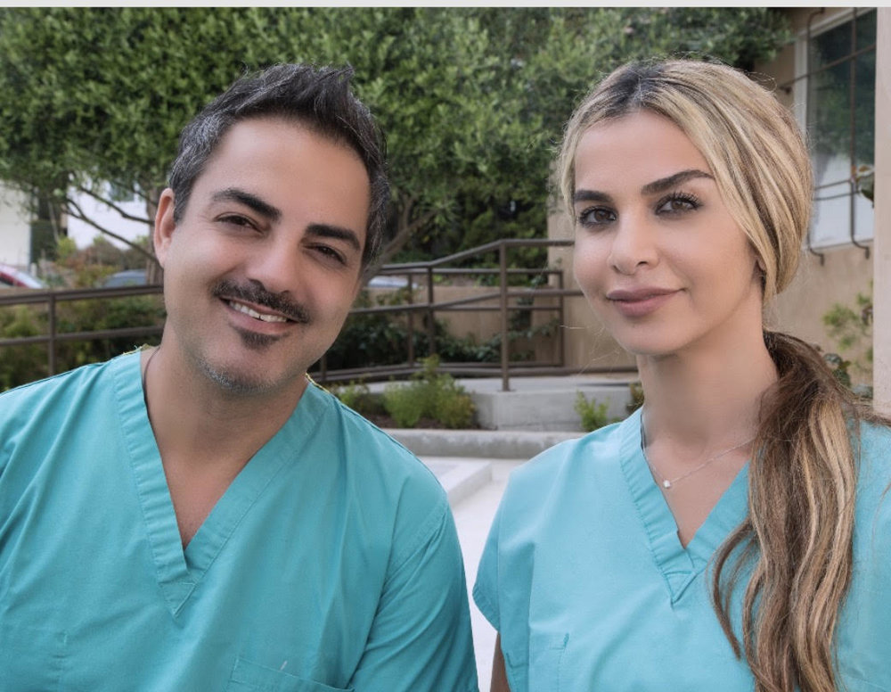 Dr Pouria Sadri (left) and Dr Maryam Hadian (right) founders of the practice,  Le Chic Dentist